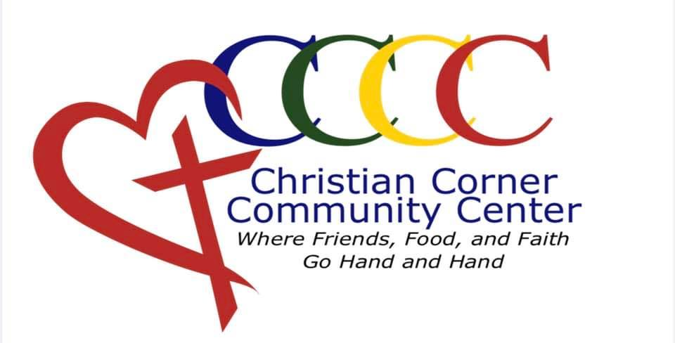 Christian corner Community Center Logo, Where Friends, Food and Faith go hand in hand